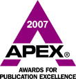Recipient of the 2007 Apex Award